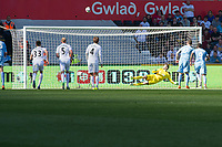 Football - 2016 / 2017 Premier League - Swansea City vs. Stoke City<br /> <br /> Marko Arnautovic of Stoke City misses a penalty to draw level , at the Liberty Stadium.<br /> <br /> COLORSPORT/WINSTON BYNORTH