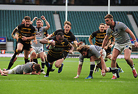 Rugby Union - 2019 Bill Beaumont County Championship Division One Final - Cheshire vs. Cornwall<br /> <br /> Seti Raumakita of Cornwall dives over to level the scoring in overtime, at Twickenham.<br /> <br /> COLORSPORT/ANDREW COWIE