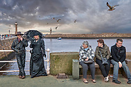 BY THE SEA - WHITBY -  colour photo art by Paul Williams of people attending Whitby Goth weekend .<br /> <br /> Visit our REPORTAGE & STREET PEOPLE PHOTO ART PRINT COLLECTIONS for more wall art photos to browse https://funkystock.photoshelter.com/gallery-collection/People-Photo-art-Prints-by-Photographer-Paul-Williams/C0000g1LA1LacMD8