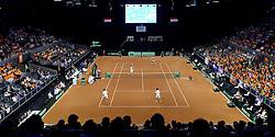 13-09-2014 NED: Davis Cup Nederland - Kroatie, Amsterdam<br /> In de Ziggo Dome verloren Robin Haase en Jean-Julien Rojer van het Kroatische dubbel Marin Cilic en Marin Draganja: 2-6, 6-3, 3-6 en 4-6.