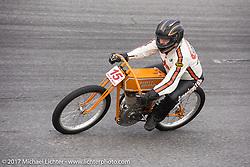 Buzz Kanter on his 1915 Harley-Davidson Model J racer at Billy Lane's Sons of Speed vintage motorcycle racing during Biketoberfest. Daytona Beach, FL, USA. Saturday October 21, 2017. Photography ©2017 Michael Lichter.