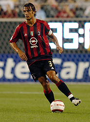 Aug 02, 2004; Philadelphia, PA, USA; AC Milan player PAULO MALDINI during the soccer match between Chelsea and AC Milan at the Lincoln Financial field.   (Credit Image: Bradley C Bower/ZUMAPRESS.com)