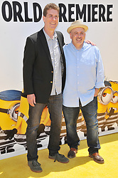 """(L-R) Cinco Paul and Ken Daurio arrives at the """"Despicable Me 3"""" Los Angeles Premiere held at the Shrine Auditorium in Los Angeles, CA on Saturday, June 24, 2017.  (Photo By Sthanlee B. Mirador) *** Please Use Credit from Credit Field ***"""