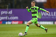 Forest Green Rovers Nathan McGinley(19) runs forward during the The FA Cup 1st round match between Oxford United and Forest Green Rovers at the Kassam Stadium, Oxford, England on 10 November 2018.