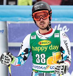 04.03.2017, Podkoren, Kranjska Gora, SLO, FIS Weltcup Ski Alpin, Kranjska Gora, Riesenslalom, Herren, 2. Lauf, im Bild Marcel Mathis (AUT) // Marcel Mathis of Austria reacts after his 2nd run of men's Giant Slalom of FIS ski alpine world cup at the Podkoren in Kranjska Gora, Slovenia on 2017/03/04. EXPA Pictures © 2017, PhotoCredit: EXPA/ Johann Groder