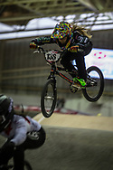 #136 (GAYHEART Mckenzie) USA during practice at the 2019 UCI BMX Supercross World Cup in Manchester, Great Britain
