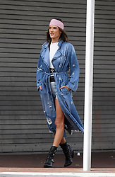 Brazilian supermodel Alessandra Ambrosio shows off her legs in unusual jean briefs for Elle Italy photoshoot in Little Havana, Florida. 23 Jan 2019 Pictured: Alessandra Ambrosio. Photo credit: MEGA TheMegaAgency.com +1 888 505 6342