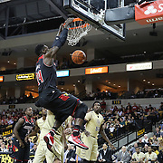 Louisville Cardinals forward Montrezl Harrell (24) slams the ball during an NCAA basketball game between the 14th ranked Louisville Cardinals and the UCF Knights at the CFE Arena on Tuesday, December 31, 2013 in Orlando, Florida. (AP Photo/Alex Menendez)