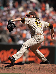 Oct 3, 2021; San Francisco, California, USA; San Diego Padres pitcher Dinelson Lamet (29) delivers a pitch against the San Francisco Giants during the fourth inning at Oracle Park. Mandatory Credit: D. Ross Cameron-USA TODAY Sports