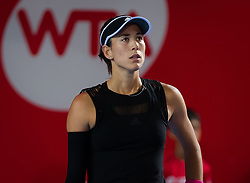 October 12, 2018 - Garbine Muguruza of Spain in action during her quarter-final match at the 2018 Prudential Hong Kong Tennis Open WTA International tennis tournament (Credit Image: © AFP7 via ZUMA Wire)