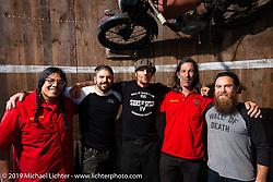 Wall of Death rider Rhett Rotten with friends at Destination Daytona during Daytona Bike Week. Ormond Beach, FL. USA. Monday March 12, 2018. Photography ©2018 Michael Lichter.