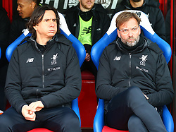 March 31, 2018 - London, Greater London, United Kingdom - L-R First assistant coach Zeljko Buvac and Liverpool manager Jurgen Klopp .during the Premiership League  match between Crystal Palace and Liverpool at Wembley, London, England on 31 March 2018. (Credit Image: © Kieran Galvin/NurPhoto via ZUMA Press)