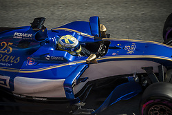 March 10, 2017 - Montmelo, Catalonia, Spain - MARCUS ERICSSON (SWE) in his Sauber C36-Ferrari at the pit stop at day 8 of Formula One testing at Circuit de Catalunya (Credit Image: © Matthias Oesterle via ZUMA Wire)