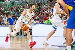 Goran Dragic of Slovenia during qualifying match between Slovenia and Kosovo for European basketball championship 2017,  Arena Stozice, Ljubljana on 31th August, Slovenia. Photo by Grega Valancic / Sportida