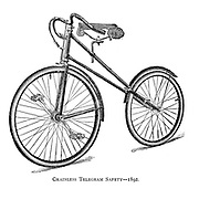 Chainless Telegram Safety 1892 From Wheels and Wheeling; An indispensable handbook for cyclists, with over two hundred illustrations by Porter, Luther Henry. Published in Boston in  1892