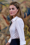 050814 Princess Letizia attends audiences at Zarzuela Palace