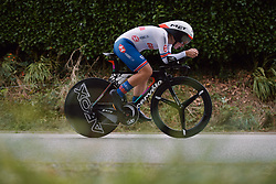 Hayley Simmonds (GBR) at the 2020 UEC Road European Championships - Elite Women ITT, a 25.6 km individual time trial in Plouay, France on August 24, 2020. Photo by Sean Robinson/velofocus.com