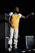 """June 2, 2012- Philadelphia, PA, United States: Recording Artist Wale performs at the 5th Annual ROOTS Picnic held at Festival Pier at Penn's Landing in Philadelphia, PA . The Roots is an American hip hop/neo soul band formed in 1987 by Tariq """"Black Thought"""" Trotter and Ahmir """"Questlove"""" Thompson in Philadelphia, Pennsylvania. They are known for a jazzy, eclectic approach to hip hop which includes live instrumentals. (Photo by Terrence Jennings)"""