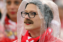 "31 October 2015:  It's Halloween and the Redbird Cheerleaders dressed as Brock Spack by making it Spack""stashe"" day donning fake mustaches similar to Coach Spack at NCAA FCS Football between Indiana State Sycamores and Illinois State Redbirds at Hancock Stadium in Normal IL (Photo by Alan Look)"