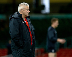 Head Coach Warren Gatland of Wales during the captains run<br /> <br /> Photographer Simon King/Replay Images<br /> <br /> Six Nations Round 5 - Wales v Ireland Captains Run - Saturday 15th March 2019 - Principality Stadium - Cardiff<br /> <br /> World Copyright © Replay Images . All rights reserved. info@replayimages.co.uk - http://replayimages.co.uk