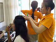 Sengsavang beauty salon is a social enterprise supported by AFESIP Laos and offers beauty training and an income generating activity that supports former victims of trafficking to return to a normal life through sustainable community reintegration. AFESIP (Agir pour les Femmes en Situation Precaire / Acting for Women in Distressing Situations) is a French non-governmental, non-partisan and non-religious organisation which combats the causes and consequences of trafficking and sexual exploitation of women and girls.