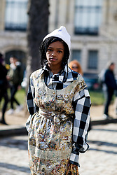 Street style, Selah Marley arriving at Vivienne Westwood Fall-Winter 2018-2019 show held at Pavillon Ledoyen, in Paris, France, on March 3rd, 2018. Photo by Marie-Paola Bertrand-Hillion/ABACAPRESS.COM