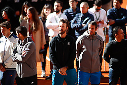 May 5, 2019 - Madrid, MADRID, SPAIN - Carlos Moya during the act of honours to David Ferrer during the Mutua Madrid Open 2019 (ATP Masters 1000 and WTA Premier) tenis tournament at Caja Magica in Madrid, Spain, on May 05, 2019. (Credit Image: © AFP7 via ZUMA Wire)