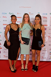 LIVERPOOL, ENGLAND - Tuesday, May 9, 2017: Liverpool Ladies players Shanice Van De Sanden, Kate Longhurts and Jess Clarke arrive on the red carpet for the Liverpool FC Players' Awards 2017 at Anfield. (Pic by David Rawcliffe/Propaganda)