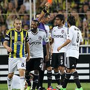 Referee Ozgur Yankaya during their Turkish Superleague soccer derby match Fenerbahce between Besiktas at Sukru Saracaoglu stadium in Istanbul Turkey on Sunday 07 October 2012. Photo by TURKPIX