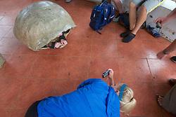 Melissa Photographing Maggie In Tortoise Shell, Santa Cruz Island