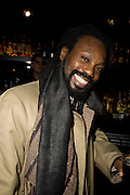 FRANK WILSON, INTO THE HOODS - a hip hop dance musical -opening  at the Novello Theatre on The Aldwych. After- party at TAMARAI at 167 Drury Lane, London. 27 March 2008.   *** Local Caption *** -DO NOT ARCHIVE-© Copyright Photograph by Dafydd Jones. 248 Clapham Rd. London SW9 0PZ. Tel 0207 820 0771. www.dafjones.com.