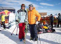 14.01.2016, Hahnenkamm, Kitzbühel, AUT, FIA, Formel 1, Projekt Spielberg Showrun, im Bild v.l. Gerhard Berger (AUT), Harti Weirather (WWP) //  former formula one driver Gerhard Berger of Austria and former Austrian Ski Racer and CEO of WWP Harti Weirather during the Project Spielberg Showrun at Hahnenkamm in Kitzbuehel, Austria on 2016/01/14. EXPA Pictures © 2016, PhotoCredit: EXPA/ Johann Groder