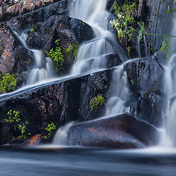 Upper Cold Stream Falls in Maine's Northern Forest. Johnson Mountain Township.