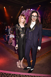 Joshua Kane and Francesca Merricks at the Warner Music & Ciroc Brit Awards party, Freemasons Hall, 60 Great Queen Street, London England. 22 February 2017.