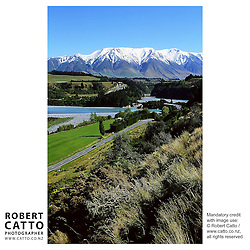 Scenic images of Methven, near Christchurch in New Zealand's South Island.  A ski town in winter, Methven is located close to Mount Hutt and Mount Olympus, in the Southern Alps. (Image scanned from original slide.)