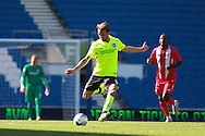 Dale Stephens during the Pre-Season Friendly match between Brighton and Hove Albion and Sevilla at the American Express Community Stadium, Brighton and Hove, England on 2 August 2015. Photo by Bennett Dean.