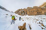 Hiking into Reids Peak, Uintas, Utah.