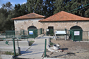 Israel, Hadera stream a seasonal watercourse nature reserve. Historic pumping station (1906)