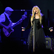 "WASHINGTON, DC - April 9th  2013 -  John McVie and Stevie Nicks of Fleetwood Mac perform at the Verizon Center in Washington, D.C. during the band's 2013 World Tour. Fleetwood Mac, touring for the first time since 2009, is including two new songs in their setlist, ""Sad Angel"" and ""Without You."" (Photo by Kyle Gustafson/For The Washington Post)"