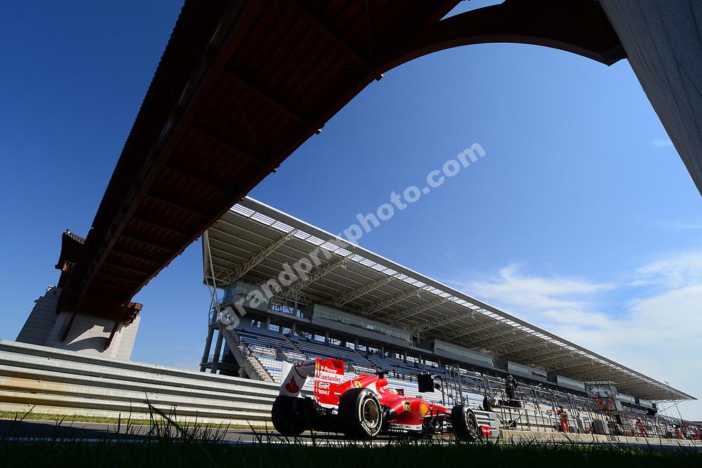 Fernando Alonso (Ferrari) during practice for the 2013 Korean Grand Prix in Yeongam. Photo: Grand Prix Photo