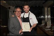 SHIMON; DANIEL DOHERTY, Duck & Waffle 2nd Anniversary. 110 Bishopsgate<br /> London EC2N 4AY. 22 October 2014.