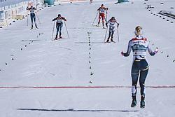 28.02.2021, Oberstdorf, GER, FIS Weltmeisterschaften Ski Nordisch, Oberstdorf 2021, Damen, Langlauf, Teamsprint, Freestyle, im Bild v.l.: Nadine Faehndrich (SUI), Jonna Sundling (SWE) // f.l.: Nadine Faehndrich of Switzerland Jonna Sundling of Sweden during women Cross Country team sprint freestyle competition of the FIS Nordic Ski World Championships 2021 in Oberstdorf, Germany on 2021/02/28. EXPA Pictures © 2021, PhotoCredit: EXPA/ Dominik Angerer