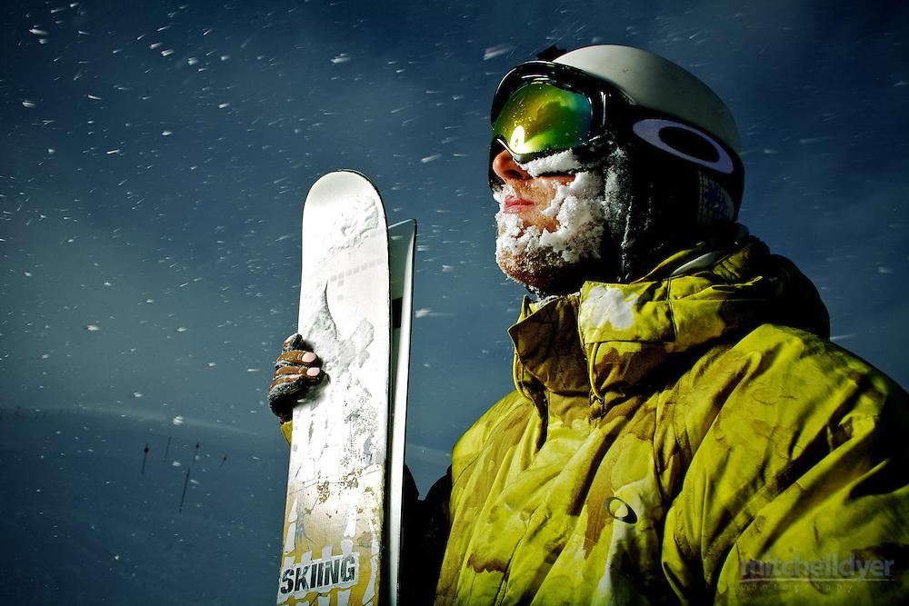 Photo of a skier on Mt. Hood near Portland, Oregon. Photo by Portland, OR photographer Craig Mitchelldyer. www.craigmitchelldyer.com