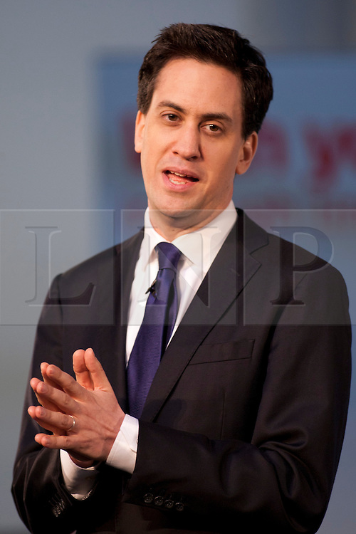 © Licensed to London News Pictures.16/03/2012. Coventry, West Midlands. Labour Party Leader Ed Miliband visited the International Digital Laboratory at the Universty of Warwick, Coventry, earlier today, where he gave a speech at Labour's Youth Conference on Jobs. Photo credit : Dave Warren/LNP