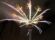 NEW ZEALAND   New Year is celebrated with a firework display from the SkyTower in Auckland New Zealand  31/12/2009. STEPHEN SIMPSON...