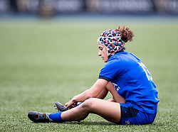 Michela Sillari of Italy<br /> <br /> Photographer Simon King/Replay Images<br /> <br /> Six Nations Round 1 - Wales Women v Italy Women - Saturday 2nd February 2020 - Cardiff Arms Park - Cardiff<br /> <br /> World Copyright © Replay Images . All rights reserved. info@replayimages.co.uk - http://replayimages.co.uk