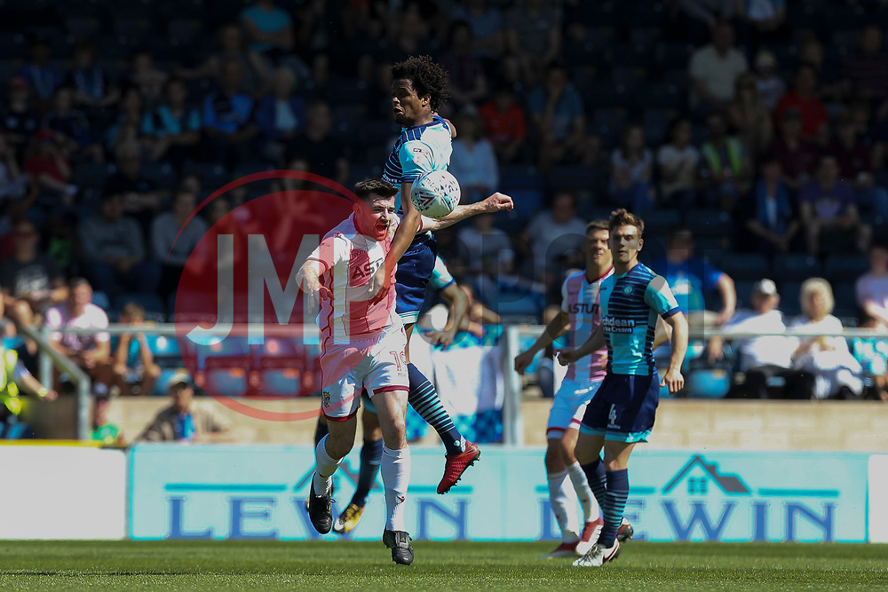 Sido Jombati of Wycombe Wanderers heads the ball under pressure - Mandatory by-line: Jason Brown/JMP - 05/05/2018 - FOOTBALL - Adam's Park - High Wycombe, England - Wycombe Wanderers v Stevenage - Sky Bet League Two