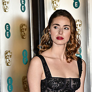 Freya Mavor Arrivers at EE British Academy Film Awards in 2019 after-party dinner at Grosvenor house on 10 Feb 2019.