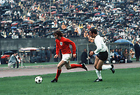 Football - 1972 UEFA European Football Championship Qualifying - Quarter Final Second Leg: West Germany 0 England 0<br /> <br /> England's Rodney Marsh and West Germany's Horst-Dieter Hoettges in the Olympiastadion, West Berlin.<br /> <br /> Germany won the tie by an aggregate score of 3-1.
