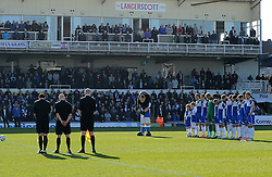A minutes silence to remember Becky Watts - Photo mandatory by-line: Neil Brookman/JMP - Mobile: 07966 386802 - 07/03/2015 - SPORT - Football - Bristol - Memorial Stadium - Bristol Rovers v Eastleigh - Vanarama Football Conference